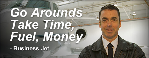 Go Arounds Take Time, Fule, Money - Business Jet